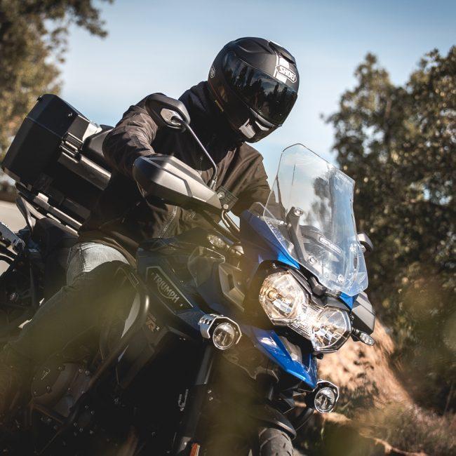 Shooting Moto et Motard sur Triumph